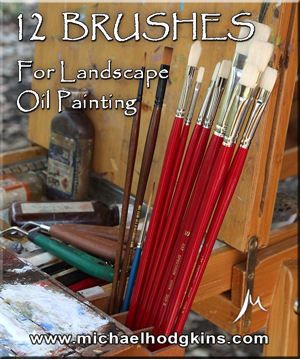 12 Brushes for Landscape Oil Painting