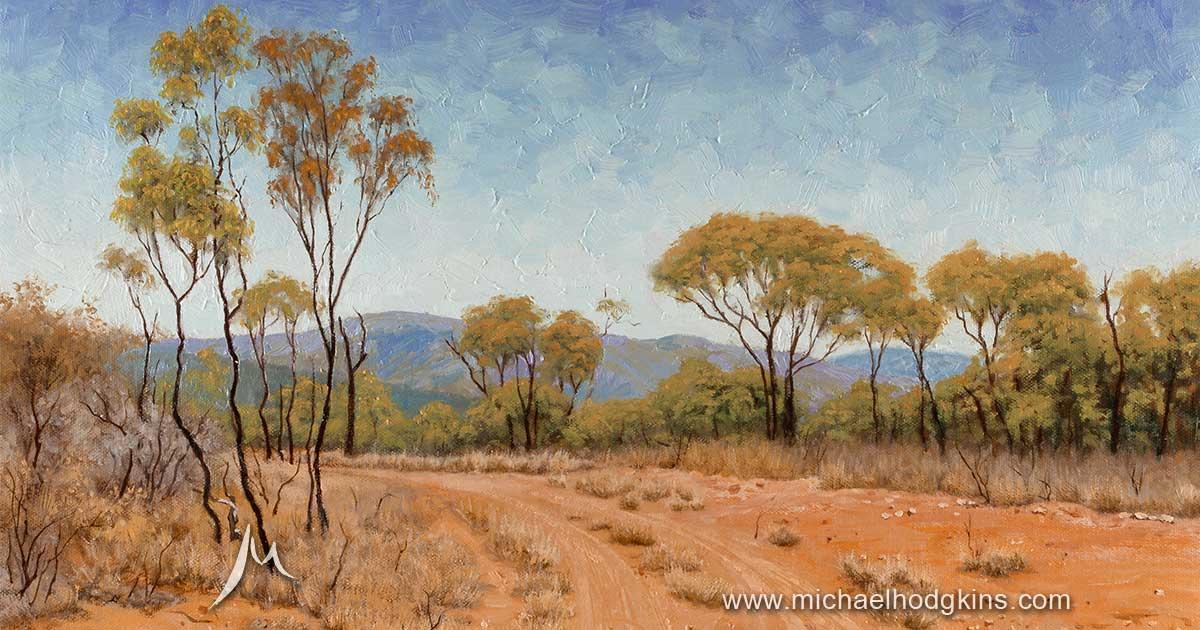 Michael hodgkins australian landscape paintings for Australian mural artists