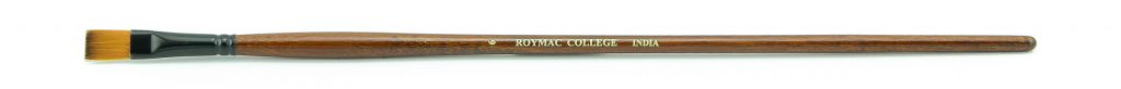 "Roymac ""College"" size 6 long handled Taklon bristle Flat artists' Acrylic painting brush"