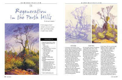 Demonstration Article, Artists Palette Magazine 144 - Michael Hodgkins