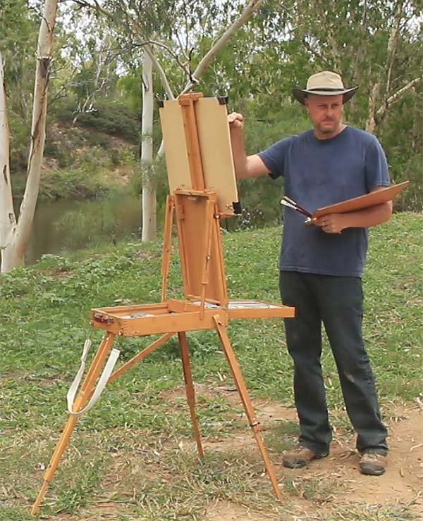 Michael Hodgkins with French Box Easel