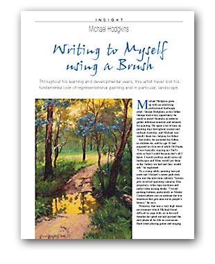 Artists Palette Magazine 144 - Michael Hodgkins, Insight - Writing to Myself Using a Brush