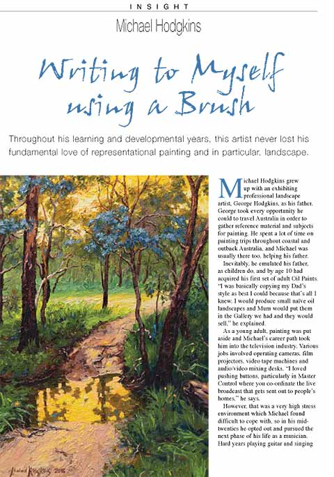 Artists Palette Magazine 144 - Michael Hodgkins, Insight - Writing to Myself Using a Brush