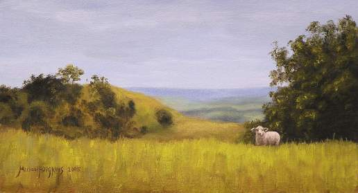 Curious - New Zealand Landscape Oil Painting by Michael Hodgkins