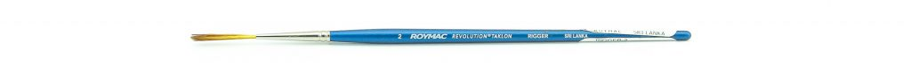 "Roymac ""Revolution"" size 2 short handled Taklon bristle rigger artists' painting brush - the one I feature in the video"