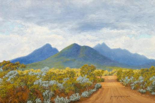Stirling Range in Changing Light Australian Landscape Oil Painting by Michael Hodgkins