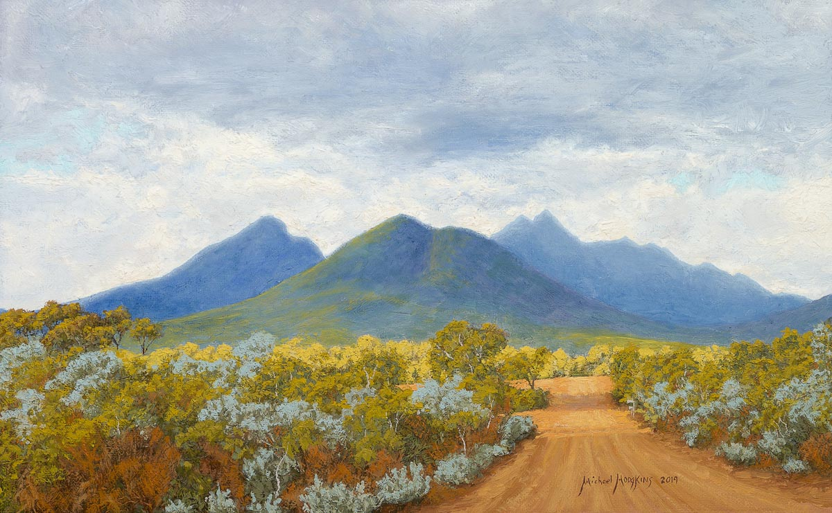 Stirling Range in Changing Light Australian Landscape Oil Painting by Michael Hodgkins