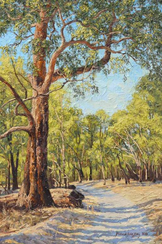 Afternoon Light in Helena Valley - Australian Landscape Oil Painting by Michael Hodgkins