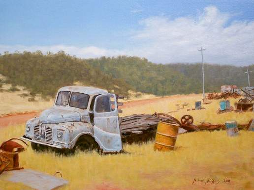 Austin Going Nowhere - Australian Landscape Oil Painting by Michael Hodgkins