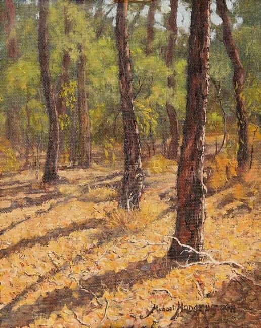 Bushmead Rifle Range 1 - Australian Landscape Oil Painting by Michael Hodgkins
