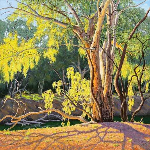 By the River - Australian Landscape Oil Painting by Michael Hodgkins