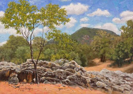 Eight Mile Creek - Australian Landscape Oil Painting by Michael Hodgkins