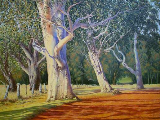 Enveloped in Glory - Australian Landscape Oil Painting by Michael Hodgkins