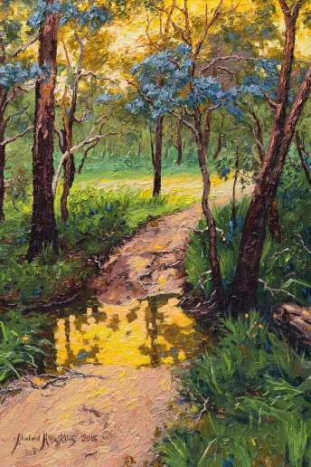 Evening Reflections on Kadina Brook - Australian Landscape Oil Painting by Michael Hodgkins