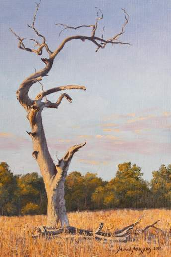 Helena Valley Landscape - Australian Landscape Oil Painting by Michael Hodgkins