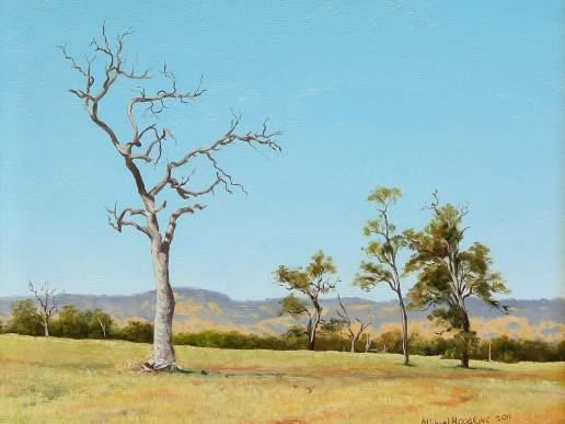 Landscape Near Pinjarra - Australian Landscape Oil Painting by Michael Hodgkins