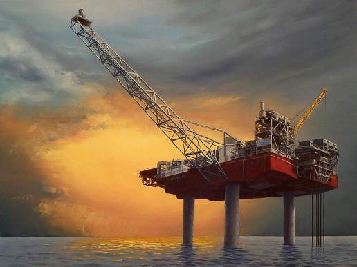 Ocean Legend 1 - Australian Maritime Oil Painting by Michael Hodgkins