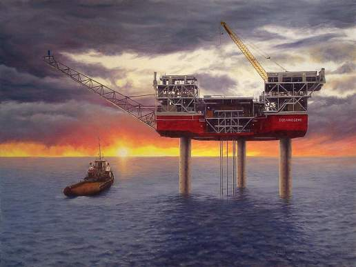 Ocean Legend 3 - Australian Maritime Oil Painting by Michael Hodgkins