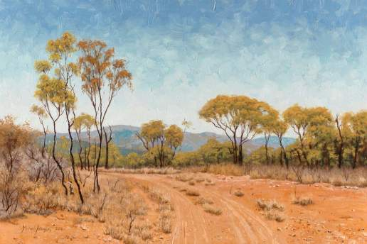 Old Glenroy Station Country - Australian Landscape Oil Painting by Michael Hodgkins