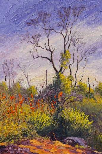 Regeneration in the Perth Hills - Australian Landscape Oil Painting by Michael Hodgkins
