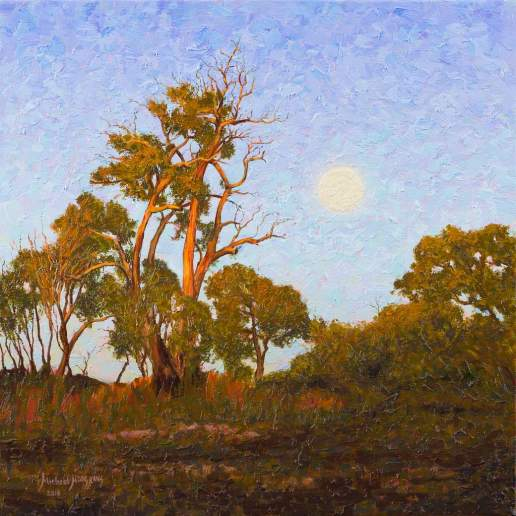 The Cusp of Eve - Australian Landscape Oil Painting by Michael Hodgkins