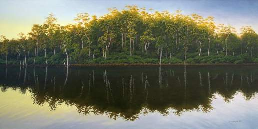 The Quiet Time - Australian Landscape Oil Painting by Michael Hodgkins