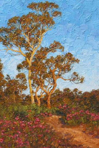 Trail Beside Jane Brook - Australian Landscape Oil Painting by Michael Hodgkins