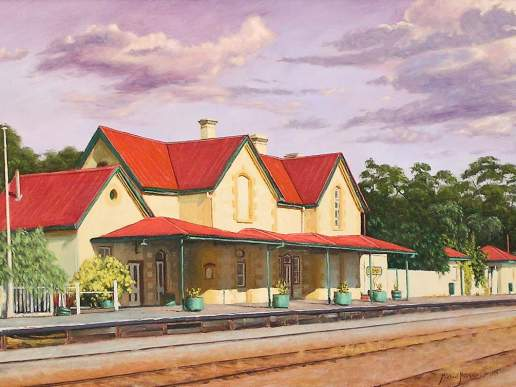 York Railway Station - Australian Landscape Oil Painting by Michael Hodgkins